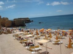 A nearby Albufeira Beach